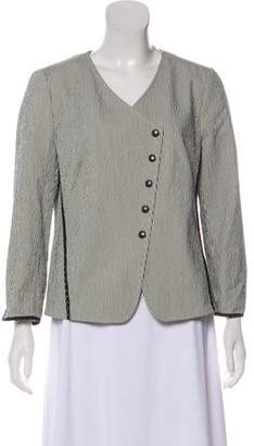 Akris Punto Long Sleeve Printed Short Coat