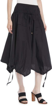 Donna Karan Drawstring-Hem Trapeze Skirt