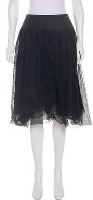 Akris Mesh Knee-Length Skirt