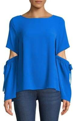 CeCe Split Bell-Sleeve Blouse