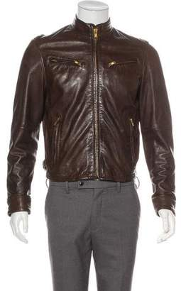 Levi's Leather Zip-Up Jacket
