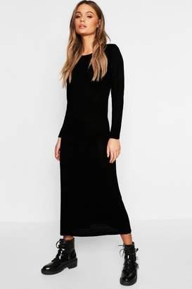 boohoo Maxi Long Sleeve Dress
