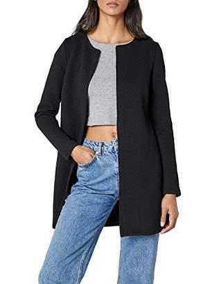 ... Vila CLOTHES Women s VINAJA NEW LONG JACKET - NOOS Blazer, Black,  (Manufacturer size 988e0fd5983a