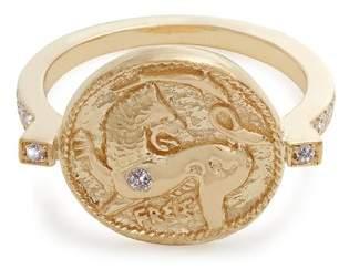 Azlee - Animal Kingdom Diamond & Yellow Gold Ring - Womens - Gold