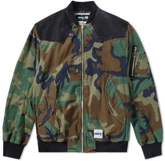 Mr. Completely Camo Reversible Bomber Jacket