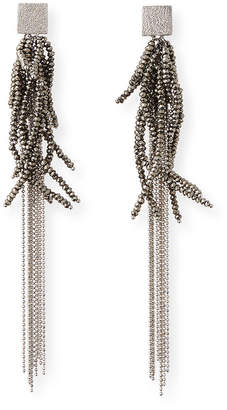 Brunello Cucinelli Silver Beaded Earrings