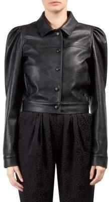 Stella McCartney Faux Leather Puff-Sleeve Jacket