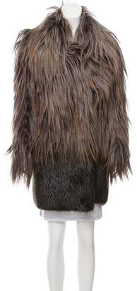Marni Knee-Length Fur Coat