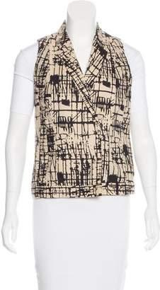 J Brand Printed Notch-Lapel Vest