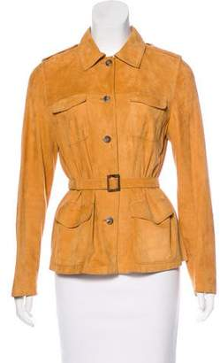 Beretta Leather Belted Jacket