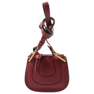 Chloé Hayley Burgundy Leather Handbag