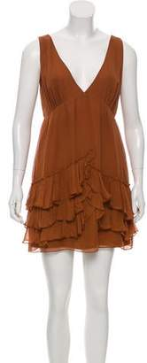 Elizabeth and James Tiered Silk Dress