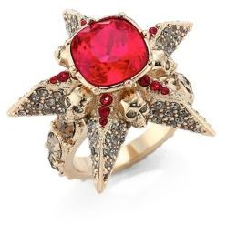 Alexander McQueenAlexander McQueen Star Skull Crystal Ring