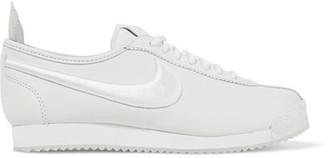Nike - Cortez 72 Si Embroidered Leather Sneakers - White $130 thestylecure.com