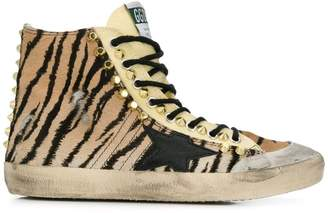 Golden Goose studded tiger print hi-tops