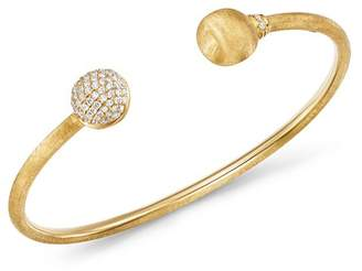 Marco Bicego 18K Yellow Gold Africa Pavé Diamond Kissing Bangle