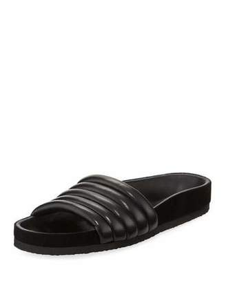Isabel Marant Hellea Quilted One-Band Slide Sandal