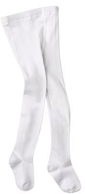 Luvable Friends Infant Toddler Girls' Cotton Tights - White