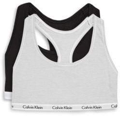 Calvin Klein Two-Pack Logo Pullover Bralette