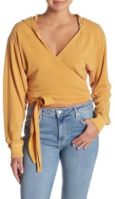 Free People Hang Loose Wrap Styled Long Sleeve Sweater
