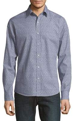 Michael Kors Printed Slim-Fit Button-Down Shirt