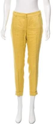 Les Copains Mid-Rise Straight-Leg Pants