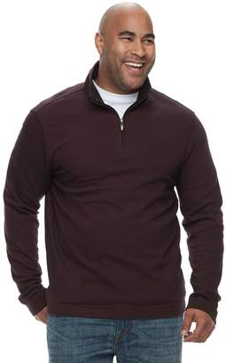 Van Heusen Big & Tall Flex Classic-Fit Quarter-Zip Pullover