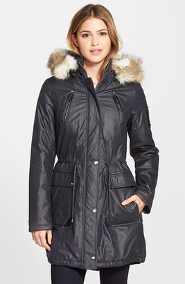 Women's Laundry By Shelli Segal Faux Fur Trim Parka $178 thestylecure.com