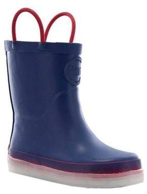 Western Chief Boys' Tech Solid LED Rain Boot