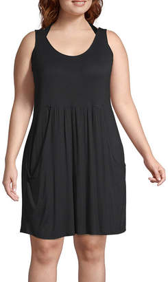 A.N.A Jersey Swimsuit Cover-Up Dress-Plus