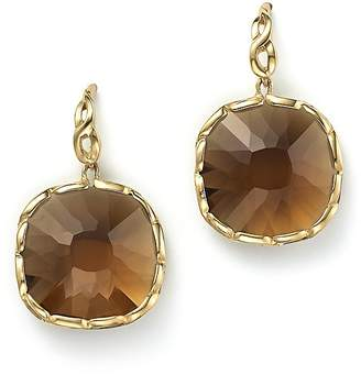 Roberto Coin 18K Yellow Gold Ipanema Square Earrings with Citrine