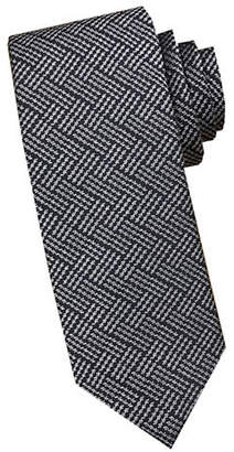 Perry Ellis Graphic Abstract Silk Tie