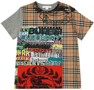 Burberry Graffiti Check Cotton Jersey T-Shirt