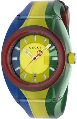 Gucci SYNC Rubber Strap Watch, 46mm