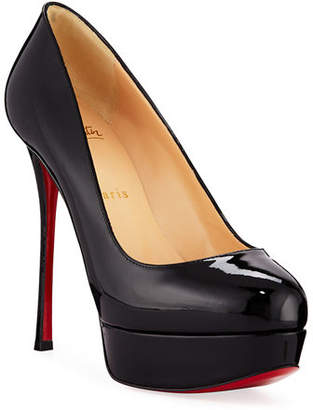 Christian Louboutin Dirditta Patent Platform Red Sole Pump