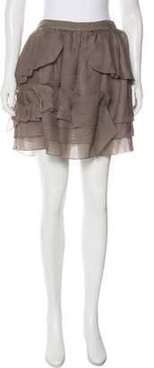 Nina Ricci Silk Peplum Skirt