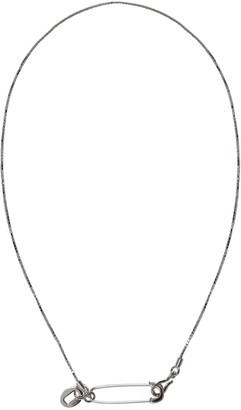 Valentino Silver Pin Necklace $275 thestylecure.com