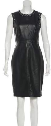 Karl Lagerfeld Sleeveless Faux Leather Dress
