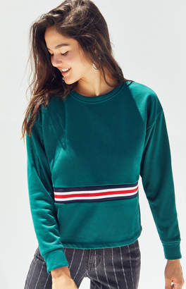 Me To We Center Stripe Fleece Sweatshirt