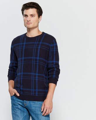 Gant Windowpane Plaid Long Sleeve Sweater