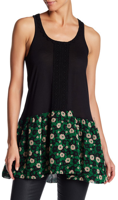 Anna SuiAnna Sui Starry Flower Trimmed Tunic