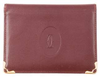Cartier Leather Trifold Card Holder