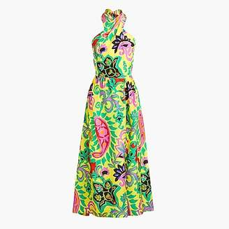 J.Crew Silk maxi sarong dress in paisley