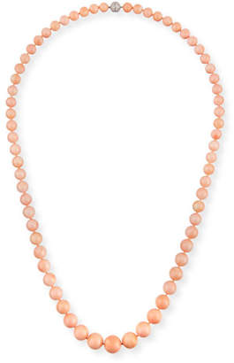 Assael Angel Skin Coral Bead Necklace, 34""