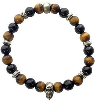 Ettika Mr. Tiger's-Eye Onyx Stretch Bracelet