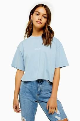 Topshop Womens Petite Malibu Washed Crop T-Shirt - Pink
