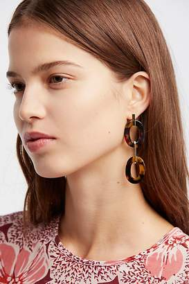 A.V. Max Resin Link Drop Hoop Earrings