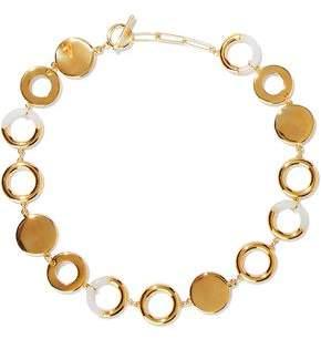 Noir Steady Glow 14-Karat Gold-Plated Resin Necklace