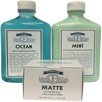John Allan's Ocean Shampoo, Mint Conditioner & Pomade Matte Set