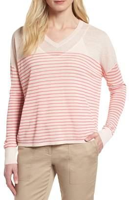 Nordstrom Signature Stripe Linen Blend Sweater